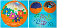 Цветы в корзине – пластилинография