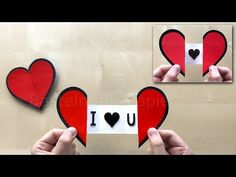 How to make an easy paper Heart with a Message using Origami paper ❤ – . How to make an easy paper Heart with a Message using Origami paper ❤ How to make an easy paper Heart with a Message using Origami paper ❤ Cool Paper Crafts, Paper Crafts Origami, Diy Paper, Diy Valentines Cards, Valentine Crafts, Diy Gift Box, Diy Gifts, Exploding Gift Box, Kirigami