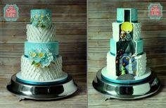 Nightmare before Christmas wedding cake by The Cake Life - http://cakesdecor.com/cakes/206820-nightmare-before-christmas-wedding-cake