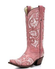 Women's Bone Floral Full Stitch Boot, Pink