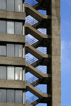 Fire Escape Stairs, YMCA, Barbican, London by mira66, via Flickr