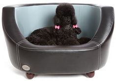 Chester and Wells #Oxford #Dog #Bed Black and Slate Small  ThePetFurnitureStore.com