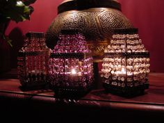 Who doesn't love little glass bead Moroccan Tea Light Holders!  A must in every home!  www.thesultanstent.com