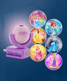 Look at this #zulilyfind! Purple Disney Princess Six-Image Projectables® LED…