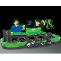 Allows kids to perform dazzling flips, hair-raising jumps, and spectacular mid-air collisions