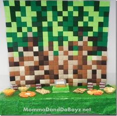 Minecraft Party DecorationsI like the brown and green fora  quilt/ or on the wall