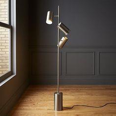Trio Floor Lamp Brushed Nickel | CB2