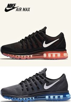 3464ccfb21 NIKE Air Max Men Unisex 2016 BLACK Orange Grey Blue 806771 Trainers Shoes 6  - 10