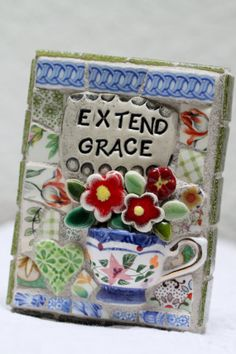 EXTEND GRACE mosaic art inspiration for polymer clay