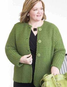 Ravelry: Crochet Short Jacket - pattern by Moda Dea Crochet Jacket Pattern, Crochet Cardigan, Crochet Shawl, Shrug Pattern, Crochet Sweaters, Short Crochet, Knit Crochet, Ravelry Crochet, Knitting Patterns Free