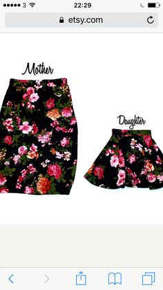 Mother and daughter high waisted skirts. Pencil skirt. Skater skirt. Photo shoot. First birthday.