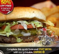 Free rainforest cafe coupon codes
