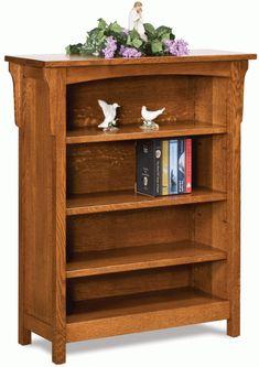 Up To 33 Off Bridger Mission 3 Shelf Bookcase Amish Furnituresolid