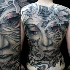 Tattoo by Tony Mancia at Mancia Tattoos in Atlanta, GA Back Piece Tattoo, Back Tattoos, Great Tattoos, Body Art Tattoos, Awesome Tattoos, Random Tattoos, Portrait Tattoos, Tattoo Photos, Tattoo Girls