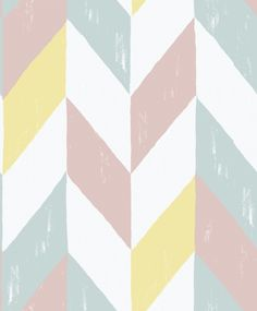 Kira Wallpaper A radiant geometric wallpaper featuring large scale chevrons in…