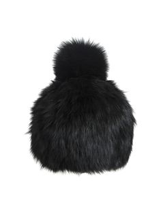 SCOOP Knit Fox Beanie with Pom-Pom - Our knit beanie is made with the finest fox fur and topped off with a tonal pom-pom. Can it get any cozier? Can it get any more chic? We don't think so. Exclusively from Scoop NYC.