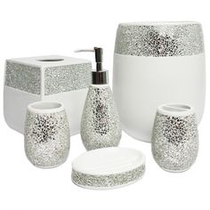 This Ornate Hand Crafted Bathroom Accessory Set Is Available As A Or In Individual Pieces