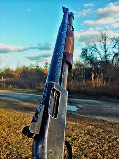Mossberg 590 12 gauge shotgun wood stocks