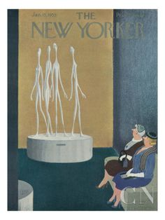 The New Yorker Cover - January 15, 1955 Premium Giclee Print
