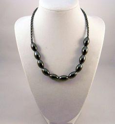 Hematite Gemstones  Necklace by EVRCreations on Etsy, $29.00