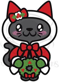 Kawaii Christmas - Kitty art