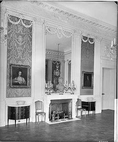 BL23769 Looking Towards The Fireplace In Music Room At Tyringham House Also Known As
