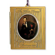 1999 White House Christmas Ornament, President Abraham Lincoln's Portrait - Ornaments - Christmas | The White House Historical Association