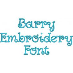 Barry Embroidery Font Machine Embroidery Designs by JuJu