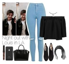 """""""Night out with Louis in LA // read d"""" by txmporaryfix ❤ liked on Polyvore featuring Topshop, Elizabeth and James, Ganni, Givenchy, Incase, 1d, louistomlinson and LA"""