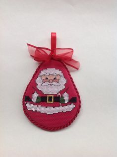 Your place to buy and sell all things handmade Cross Stitch Christmas Ornaments, Christmas Cross, Xmas, Christmas Ideas, Bargello Patterns, Santa Cross Stitch, Family Ornament, Cross Stitch Finishing, Holiday Tree