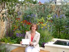 Selina Botham with her Gold medal award at Hampton Court Flower Show.