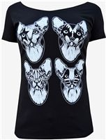 Lowbrow Art - Kiss Cats Scoop Neck Tee #goth #gothic #goth clothes #gothic clothes #punk #punk clothes #punk rock clothes #gothic clothing #punkrock #rockabilly #psychobilly #pinup #inked #alternative #alternativefashion #fashion #altstyle #altfashion #clothing #clothes #vintage #noir #infectiousthreads #horrorpunk #horror #steampunk #zombies #burningmanclothing #lowbrow art clothing