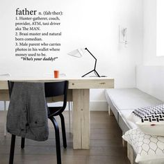 Father Wall Vinyl – Black from Love Lexicon Wall Art