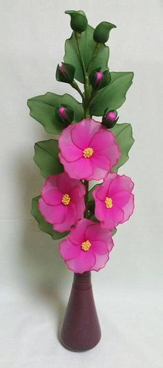 Ideas Flowers Birthday Floral Arrangements Pink Roses For 2019 Nylon Flowers, Cloth Flowers, Diy Flowers, Crochet Flowers, Fabric Flowers, Paper Flowers, Handmade Flowers, Pista Shell Crafts, Nylon Crafts