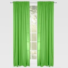 Learning Linens Solid Color 84-inch Microfiber Rod Pocket Curtain