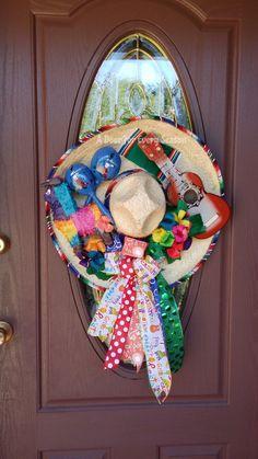 art mexicano Sombrero Wreath Door Hanger, Cinco de Mayo Decor, Mexican Heritage Door Hanger by ADoorForEverySeason on Etsy Mexican Fiesta Birthday Party, Luau Theme Party, Mexican Party, Diy Wreath, Door Wreaths, Wreath Ideas, Mexican Babies, Mexican Christmas, Mexican Heritage