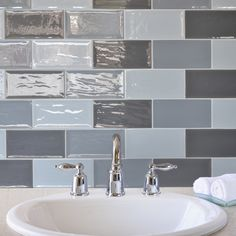 These grey tiles are part of the Artisan brick wall tiles range and can be used on their own or co-ordinated with other tiles from the range. The grey tiles look stylish in brick feature walls and are a great inspiration for kitchen or bathroom tiling ideas.