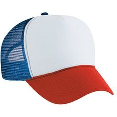 Dustin from STRANGER THINGS Red White Blue HAT Trucker Cap 80s one size fits most