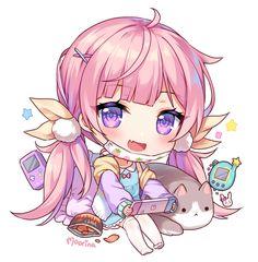 Anime Chibi, Anime Lineart, Manga Anime, Anime Art, Cute Chibi, Kawaii Anime Girl, Cute Drawings, Neko, Cute Girls