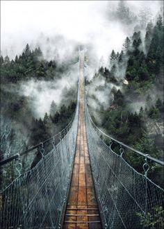 Produktinformationen BRIDGE · Metall · mehrfarbig · Made in Germany Suspension Bridge, Railroad Tracks, Design, Art, Products, Decorating Ideas, Creative, Art Print, Dekoration