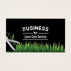 lawn care landscaping service professional business card - Lawn Care Business Cards