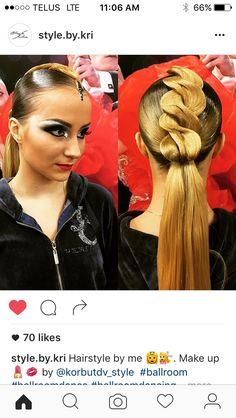 Latin Hairstyles, Creative Hairstyles, Ponytail Hairstyles, Hairstyles Haircuts, Ballroom Dance Hair, Competition Hair, Natural Hair Styles, Long Hair Styles, Hair Hacks