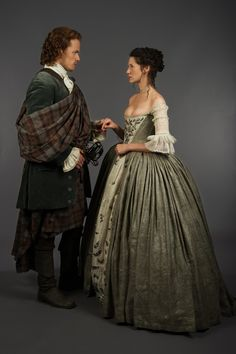 "The 'Outlander' Wedding — Official photos from Episode 107 ""The Wedding"" Caitriona Balfe and Sam Heughan, ""Claire Fraser"" and ""Jamie Fraser"" I don't think I could marry a man who wouldn't wear a kilt. It would offend my Scottish sensibilities. Claire Fraser, Jamie Fraser, Jamie And Claire, Outlander Tv Series, Diana Gabaldon Outlander Series, Outlander Season 1, Outlander Quotes, Starz Outlander, Outlander Funny"