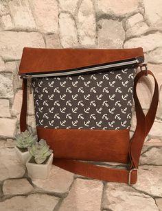 Umhängetaschen - FoldOver Tasche,  Ankerliebe! - ein Designerstück von Kleine-Wollbude bei DaWanda