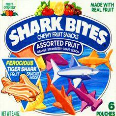 Shark Bites fruit snacks!