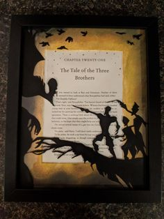 Hand painted Tale of the Three Brothers artwork for my birthday. : harrypotter Hand painted Tale of the Three Brothers artwork for my birthday. Arte Do Harry Potter, Harry Potter Painting, Harry Potter Bedroom, Theme Harry Potter, Harry Potter Fandom, Harry Potter Memes, Harry Potter Canvas, Imprimibles Harry Potter Gratis, Harry Potter Christmas Decorations