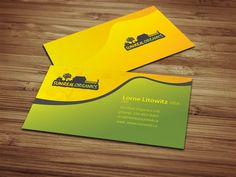 Organic Food Company Business Card design. Create for food production company.   Displayed is business card proposal created as a part of complete company branding.