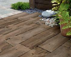 Carrelage pour sol / d'extérieur / en béton / en bois WOODSTONE SLEEPERS Marshalls plc