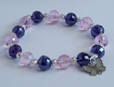 A personal favorite from my Etsy shop https://www.etsy.com/listing/278769132/baby-pink-and-purple-stretchy-bracelet
