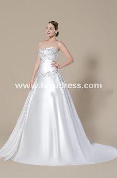 Dramatic A-Line One-Shoulder Ruffles Chapel Train Dasha's 2015 Wedding Dress